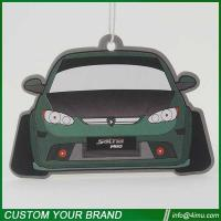 Customized design car shape 2mm cotton paper air freshener for car home office Manufactures