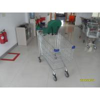 Buy cheap Baby Capsule Anti Theft Supermarket Shopping Carts 210L With Clear Powder from wholesalers