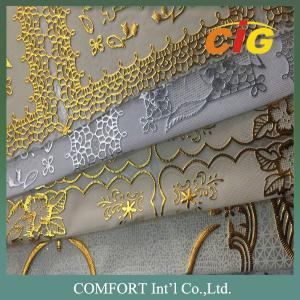 Eco - Friendly PVC Vinyl Tablecloth Plastic Lace Tablecloth Rolls / PVC Table Cover Manufactures