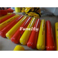 Yellow / Red Color Inflatable Buoys For Water Park , Water Fence / Inflatable Buoys Manufactures