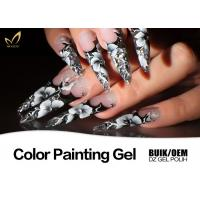 Colorful Nail Art Design Gel Nail Paint Lacquer Nail Polish OEM / ODM Available Manufactures