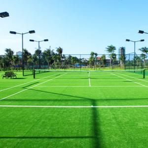 Real Looking Artificial Grass Soccer Field / Artificial Plastic Grass Mat Manufactures