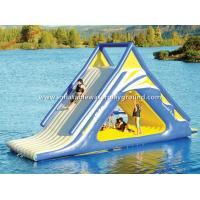 Outdoor Floating Adult Inflatable Water Slide , Big Inflatable Water Toys For Lake Manufactures