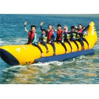 Quality Customize 0.9MM PVC Inflatable Boat Toys Towable Flyfish For 4/6 Person Use for sale