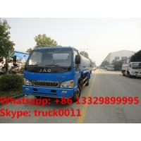 Quality bottom price 120HP 4x2 HFC JAC 4*2 LHD 6000 liter water truck, wholesale bottom for sale