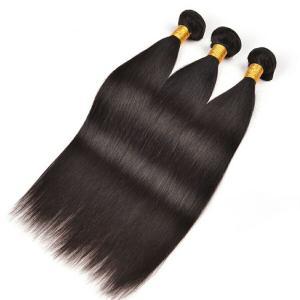 Natural Black Grade 7a European Human Hair Bundles 100 Remy Virgin Straight Hair Manufactures