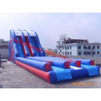 giant adult siz inflatable water slide for adult inflatable double lane slip slide Manufactures