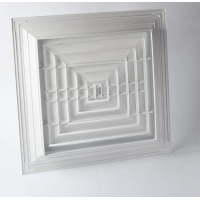 4 Way Ceiling Supply 150x150 Square Air Diffuser Manufactures