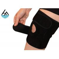 Unisex Powerlifting Knee Sleeves , Knee Compression Sleeve Running With Holes Manufactures