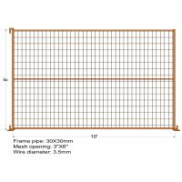 """8FT X 10FT """"Toronto Tower"""" TEMPORARY FENCE Mesh 3""""x6"""" Diameter 3.5mm dupont powder coated minimum layer 100 microns Manufactures"""