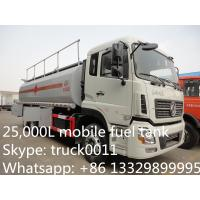 Dongfeng Kinland double rear bridge 25cbm mobile fuel tank for sale, fuel truck for sale Manufactures