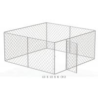Large outdoor galvanized cheap chain link dog kennel Manufactures