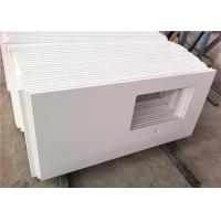 China Squared Hole Quartz Bathroom Vanity Tops Pure White Top Polished With Eased Edge on sale