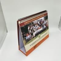 Full Color Printing Custom Desk Calendar With 300G Double Adhesive Tape Manufactures