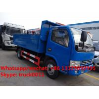 Quality HOT SALE!dongfeng 4*2 LHD 4tons dump garbage truck, Factory sale best price dump garbage truck with hydraulic cover for sale
