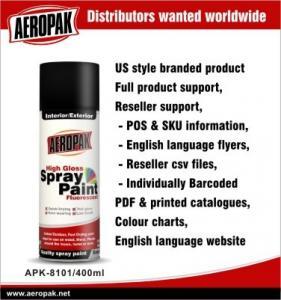 Yellow Automotive Aerosol Spray Paints / Auto Aerosol Spray Paint For Ceramic Manufactures