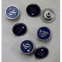 Engraved / Diamond Custom Clothing Buttons Zinc Alloy , Sewing Manufactures