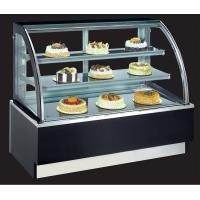 floor type curved glass 3-layer cake chiller showcase with size 90cm length in stainless or marble base color optionl Manufactures