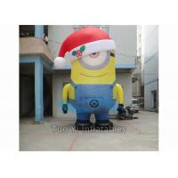 PVC Tarpaulin Inflatable Cartoon Character Giant Inflatable Minions Customized Size