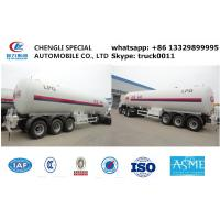 ASME standard 57.1m3 CH2 propene gas tank trailer, 24.5ton propylene CH2 semitrailer propylene tank trailer for sale Manufactures