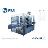 China Auto Rotary Glass Bottle Capping Machine Wine / Carbonated Drink Filling Line on sale