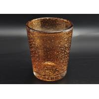 316ml Hand Made Color Sprayed Glass Votive Candle Holder with Bubble Effect Manufactures