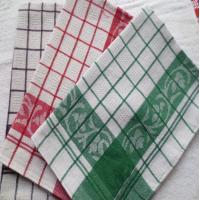 Yarn Dyed Quick - Dry Kitchen Tea Towels / Cotton Dish Towels For Airplane Use Manufactures