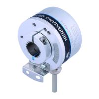 K50 Optical Position Encoder , Hollow Shaft Optical Encoder 14mm Line Driver Output 5V DC 5000 Resolution Manufactures