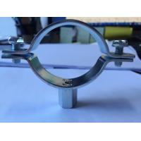 Quality Professional Cast Iron Pipe Clamps Set Electro Zinc Plated With Hanger Bolt for sale