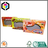 Quality Biscuits Cardboard Packaging Box with Clear Window; Open Ends Cardboard Box for sale