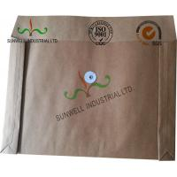 Kraft Paper Custom Printed Business Envelopes With String Closure Accordion for sale