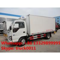 Quality CLW brand 3tons refrigeratated truck with meat hooks for sale, best price 3-5tons cold room truck for fresh meat/beef for sale