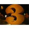 Buy cheap Metal Number Three Corten Steel Sculpture for Outdoor Art Decoration from wholesalers