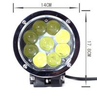 45w High Lumen Led Truck Headlights, 4D Lens Projector Cree Led Car Headlights Manufactures