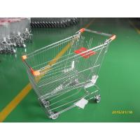 Retail Store Steel Wheeled Shopping Cart 180 L Basket Bottom Rack Manufactures