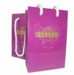 Custom promotional Pink Paper retail Carrier Bag Printing packaging Personalised