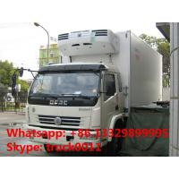 dongfeng 4*4 120hp 4tons refrigerator truck for sale, best price CLW brand dongfeng 120hp chaochai 4tons cold room truck Manufactures