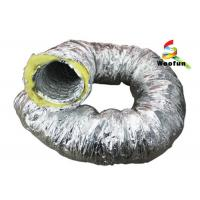 Aluminum Foil Insulated Fiberglass Insulated Flexible Ducting For Air Conditioning Manufactures