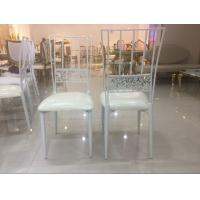 Steel Cafe White Wedding Chairs Rent Wedding Venue Chairs For Dining room