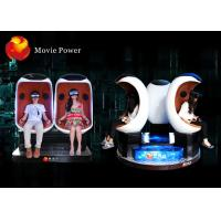 Electric System 9D VR Cinema Egg Cinema Equipment For Park / Busy Street Manufactures