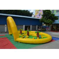 Outdoor Durable Inflatable Sports Games 0.55mm PVC Tarpaulin Round Runway For Home Manufactures