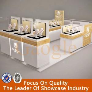 hot sales modern glass jewelry display showcase/jewelry kiosk Manufactures