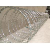 Buy cheap Hot Dipped Galvanized Razor Barbed Wire 10SWG Sharp Razor Tape from wholesalers
