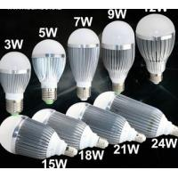LED bulb light 3W-5W-7W-9W-10W-12W-15W-21W-24W Manufactures