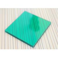 Unbreakable Polycarbonate Panel Green Color For Underground Garage Exit Manufactures