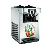 R410 Commercial Refrigerator Freezer Desk / Table Top Soft Ice Cream Machine With Three Flavors Manufactures