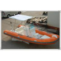 Orange / White Hunting / Fishing RHIB Inflatable RIB Boats With Motors RIB580A Manufactures