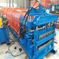 Quality Auto control control system glazed metal roof tile manufacturing forming machine for sale