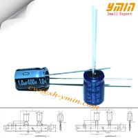 Buy cheap 1.0uF 400V 6.3x9mm Capacitor LKF Series 105°C 7,000 ~ 10,000 Hours Radial Aluminum Electrolytic Capacitor RoHS Compliant from wholesalers