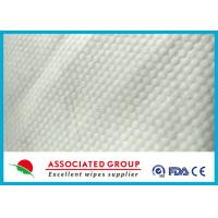 Small Pearl Dot Spunlace Nonwoven Fabric , Nonwoven Roll Ultra Thick 30~120GSM Manufactures